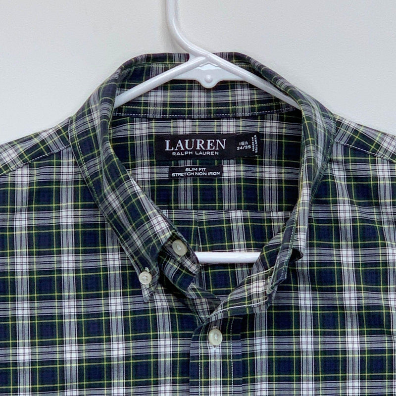 Ralph Lauren Black Label Mens Plaid Shirt Multicolor Size 16.5