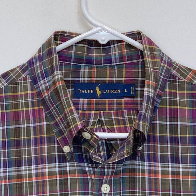 Ralph Lauren Blue Label Mens Checked Shirt Multicolor Large