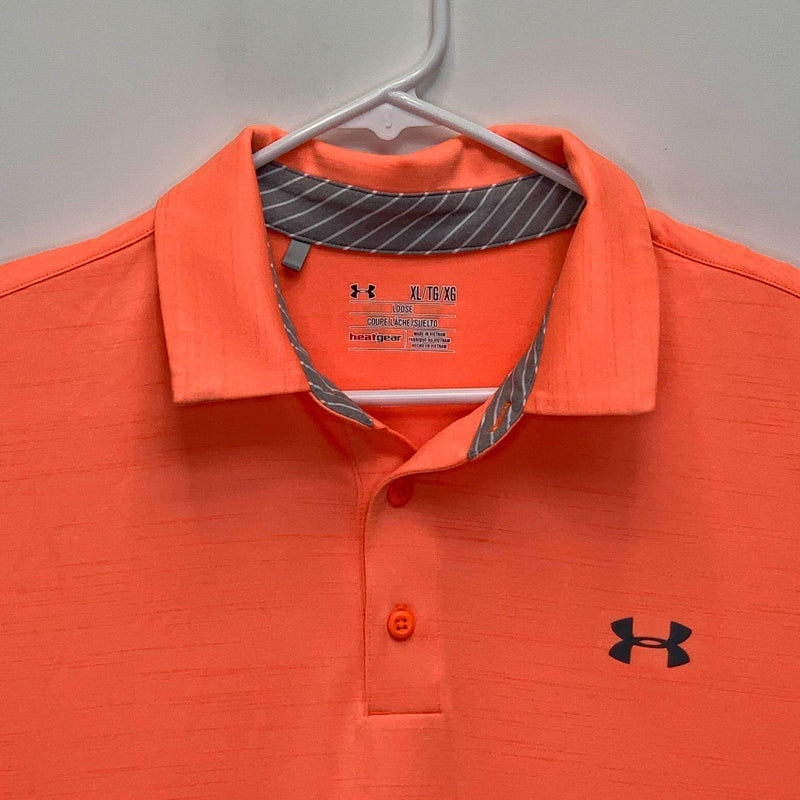 Under Armour Heatgear Mens Golf Polo Orange XL