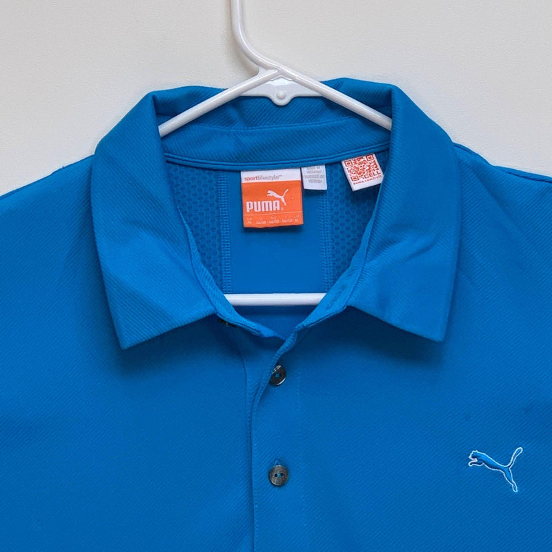 Puma Sport life Style Mens Golf Polo Blue XL