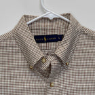 Ralph Lauren Blue Label Mens Flannel Shirt Brown Checked Large