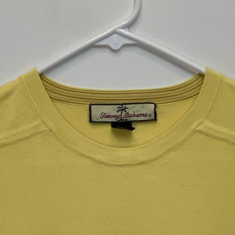 Tommy Bahama Mens Crew Neck T Shirt Yellow XL