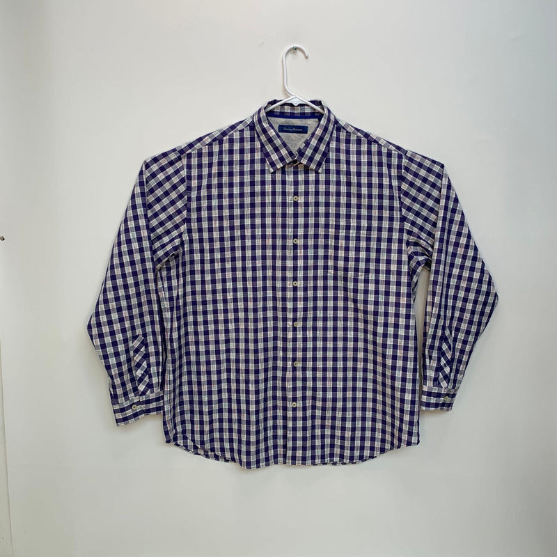 Tommy Bahama Mens Checked Shirt Multicolor XL
