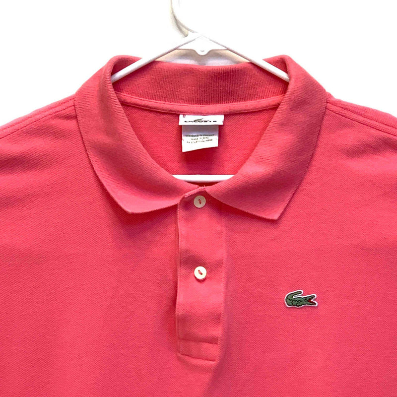 Lacoste Mens Golf Polo Pink Size 8