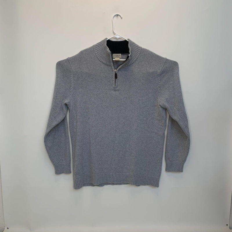 L.L.Bean Mens 1/4 Zip Pullover Gray XL Tall
