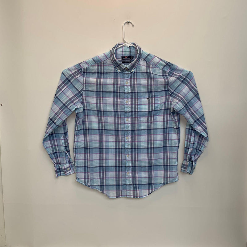 Vineyard Vines Mens Plaid Tucker Shirt Multicolor Large
