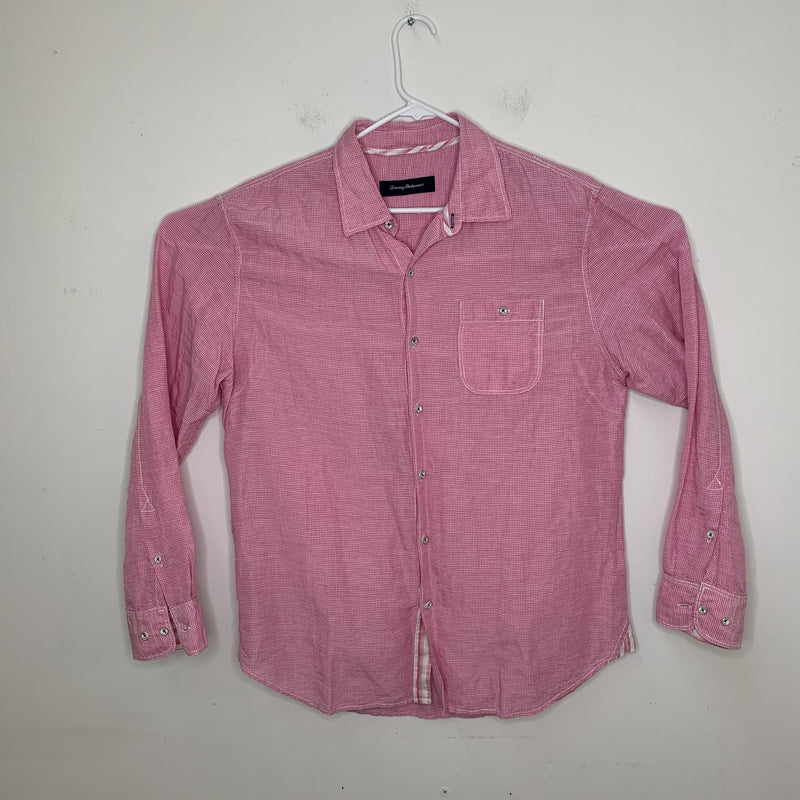 Tommy Bahama Mens Linen Shirt Pink Large
