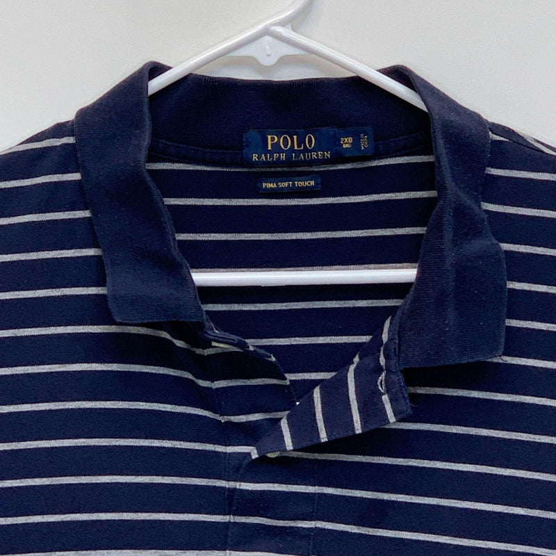 Ralph Lauren Blue Label Mens Striped Golf Polo Blue 2XL Big