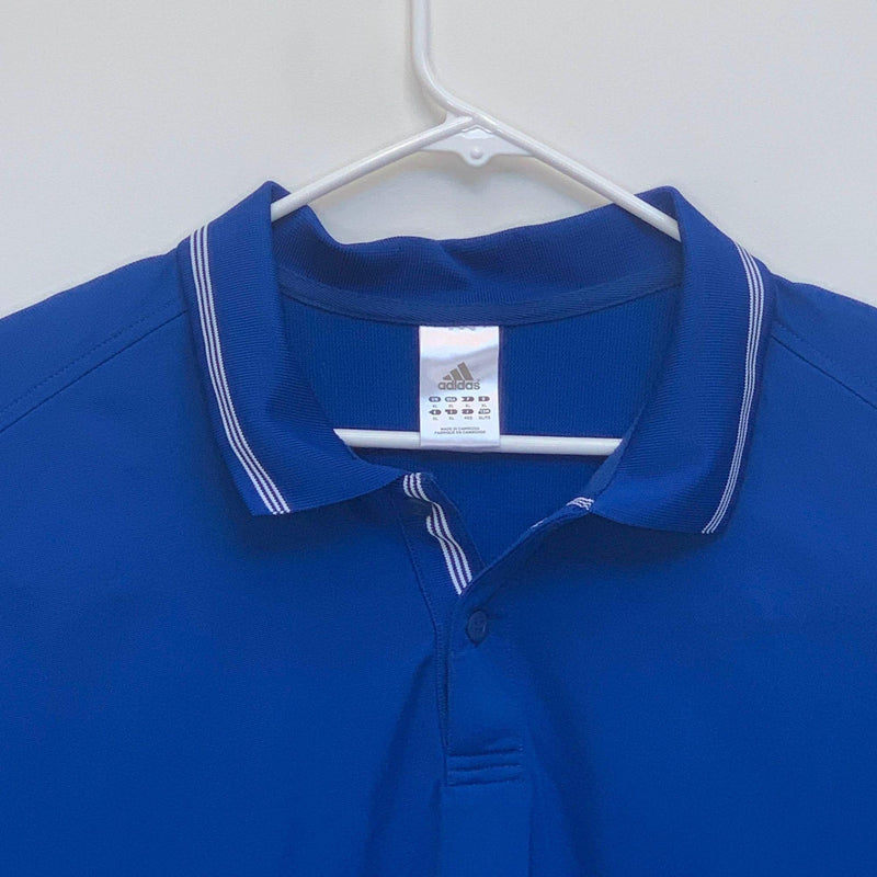 Adidas Mens Golf Polo Blue XL