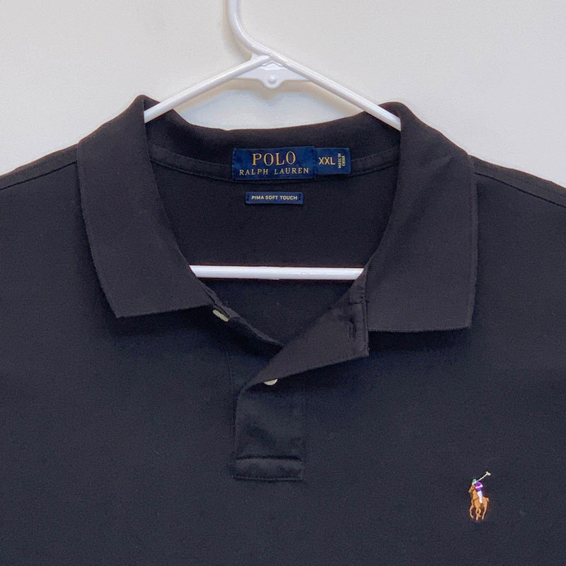 Ralph Lauren Blue Label Mens Golf Polo Black 2XL