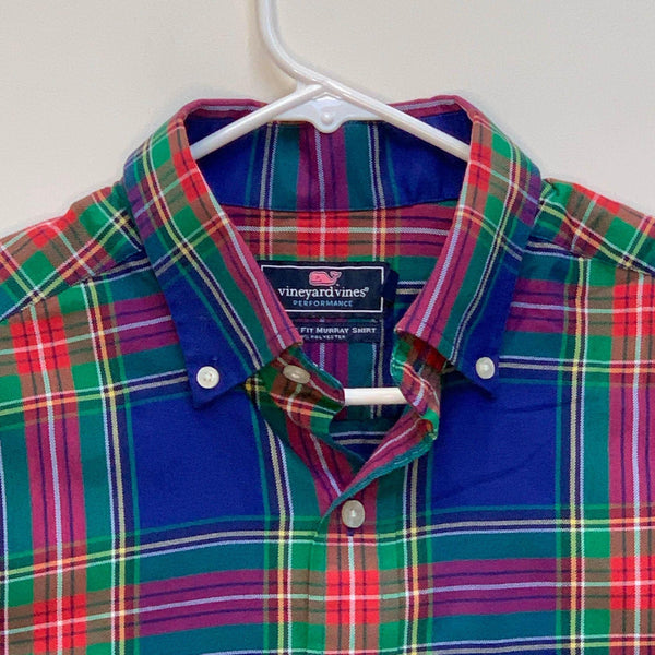 Vineyard Vines Mens Plaid Murray Shirt Medium