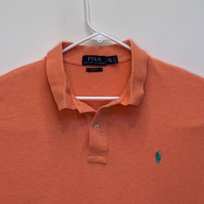 Ralph Lauren Blue Label Mens Golf Polo Orange 2XL