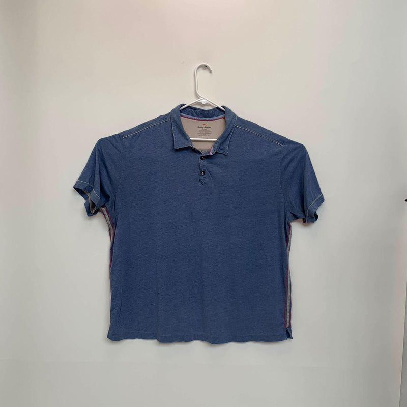 Tommy Bahama Jeans Mens Golf Polo Blue 2XL