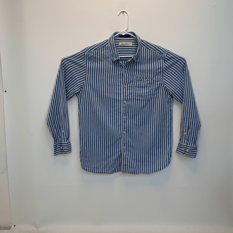 Tommy Bahama Mens Striped Shirt Blue Large
