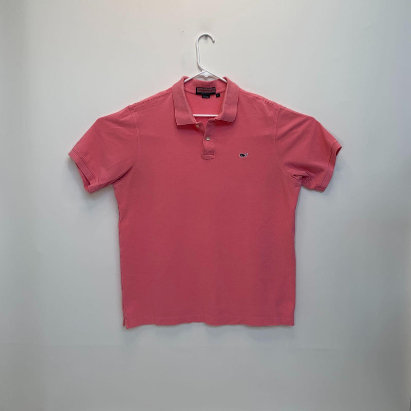Vineyard Vines Mens Golf Polo Pink Large