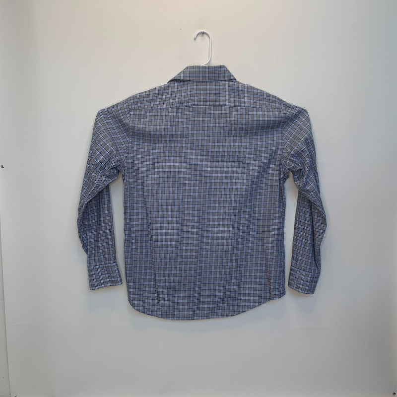 Hugo Boss Mens Checked Shirt Blue Gray Size 17