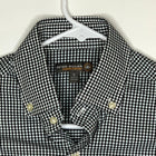 Peter Millar Summer Comfort Mens Shirt Black White Checked Small