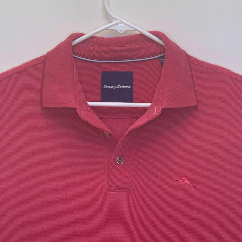 Tommy Bahama Mens Golf Polo Pink Medium