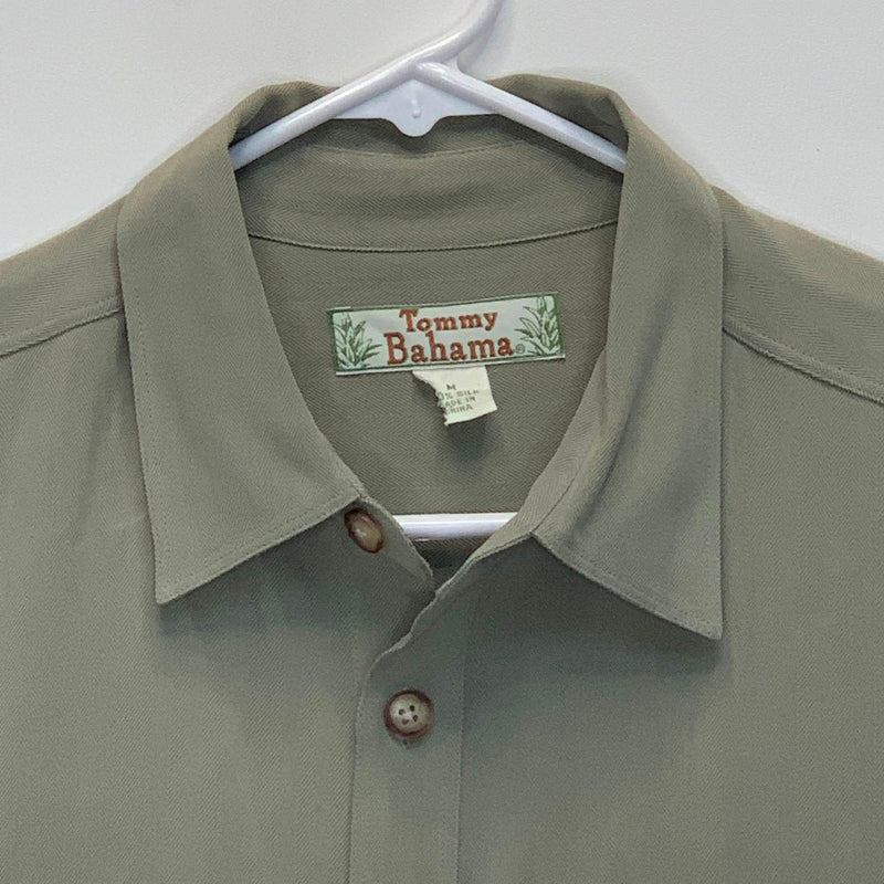 Tommy Bahama Mens Vintage Silk Green Medium