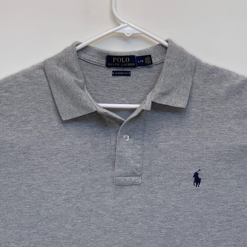 Ralph Lauren Blue Label Mens Golf Polo Gray Large
