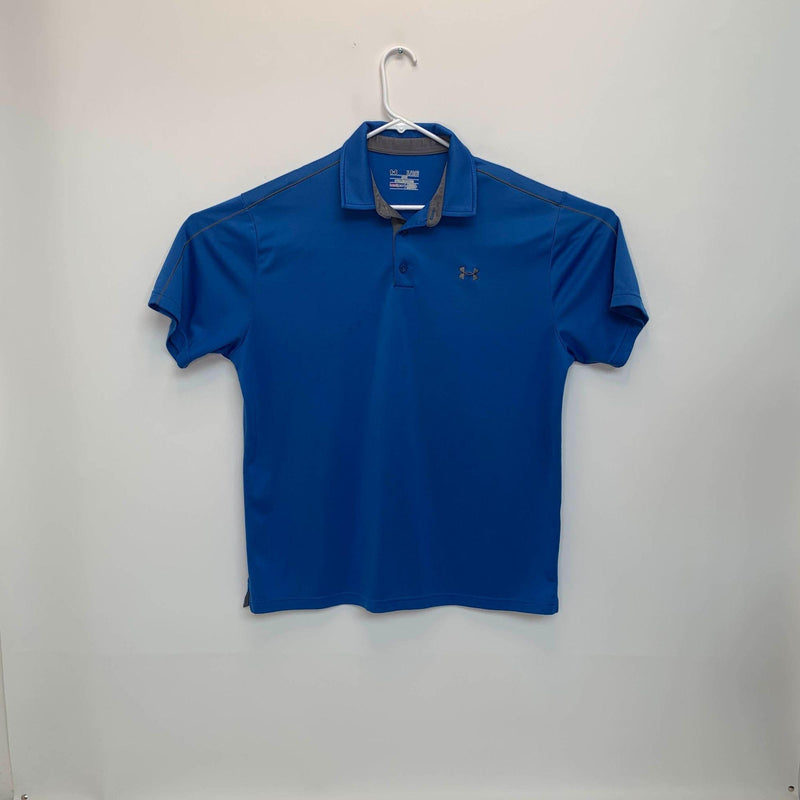 Under Armour Heatgear Mens Golf Polo Blue XL