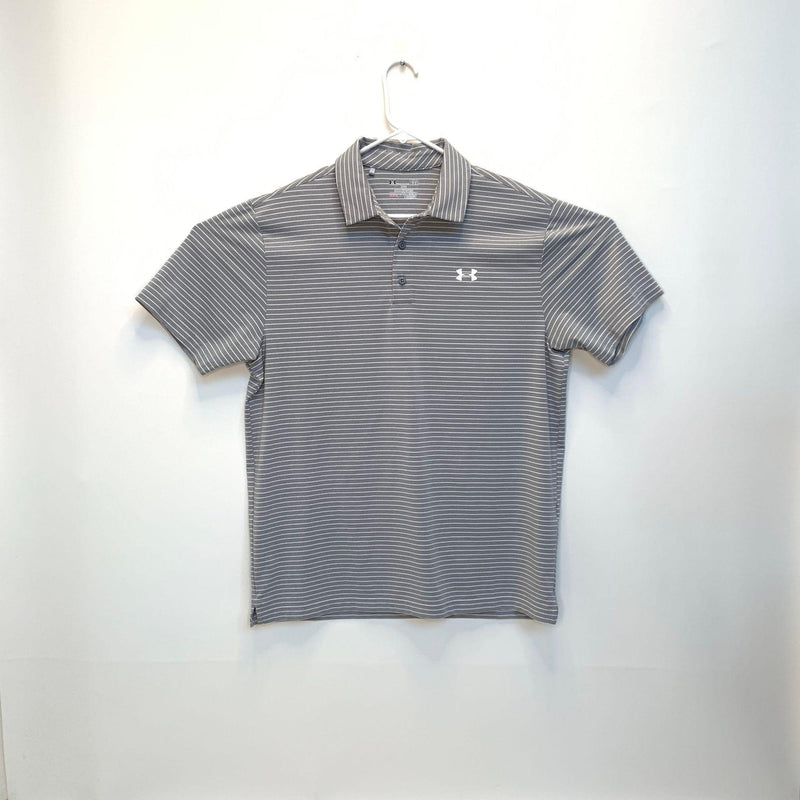 Under Armour Heatgear Mens Striped Golf Polo Large