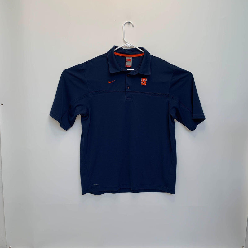 Nike Mens Syracuse University Polo Shirt Blue Large