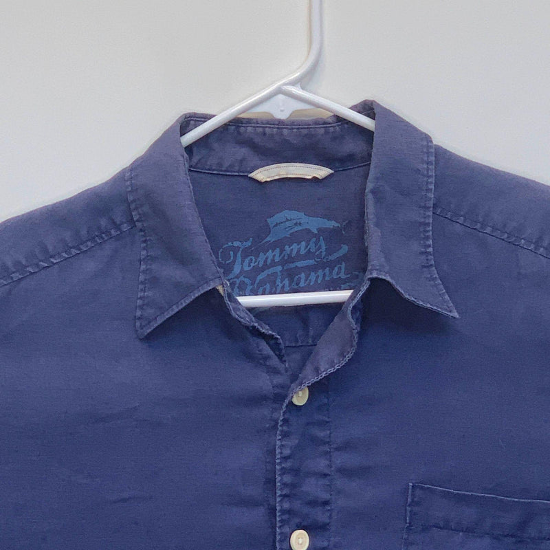 Tommy Bahama Mens Linen Shirt Blue Small