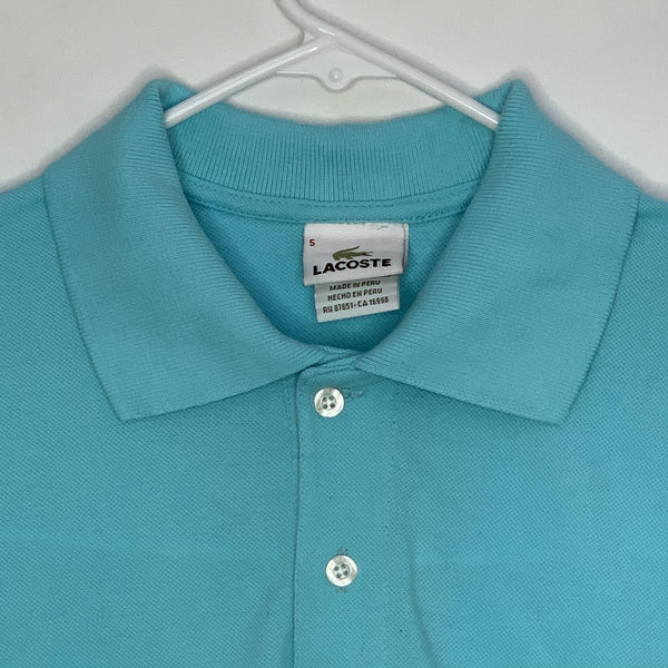 Lacoste Mens Designer Polo Shirt Teal Size 5