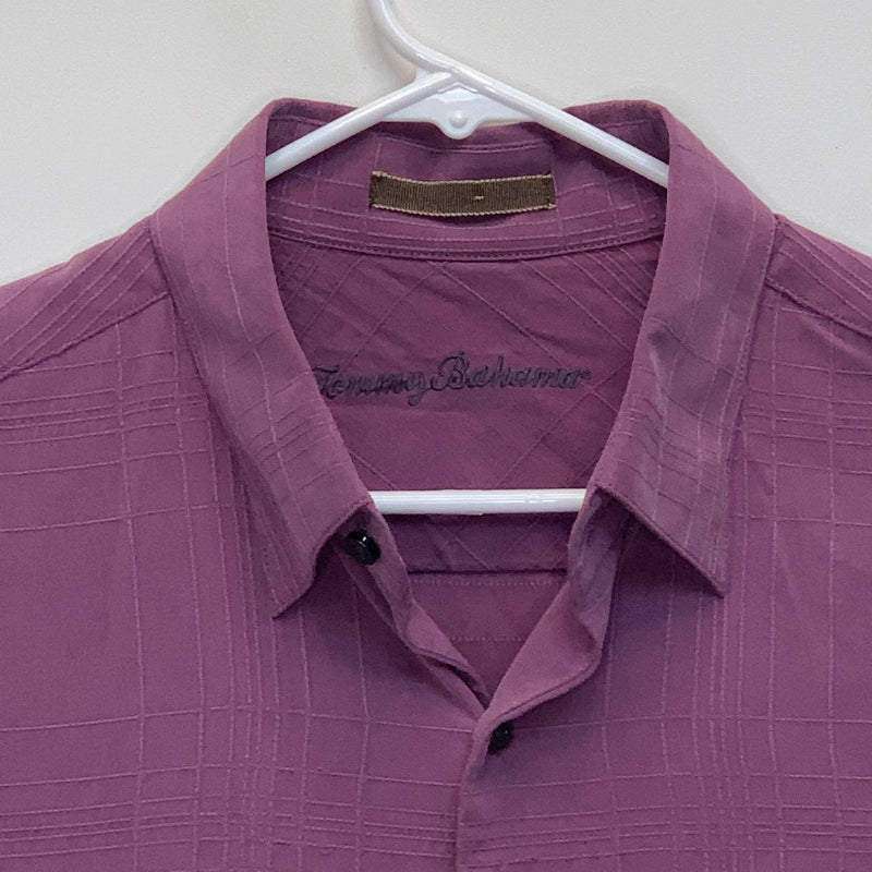 Tommy Bahama Mens Silk Shirt Purple Large