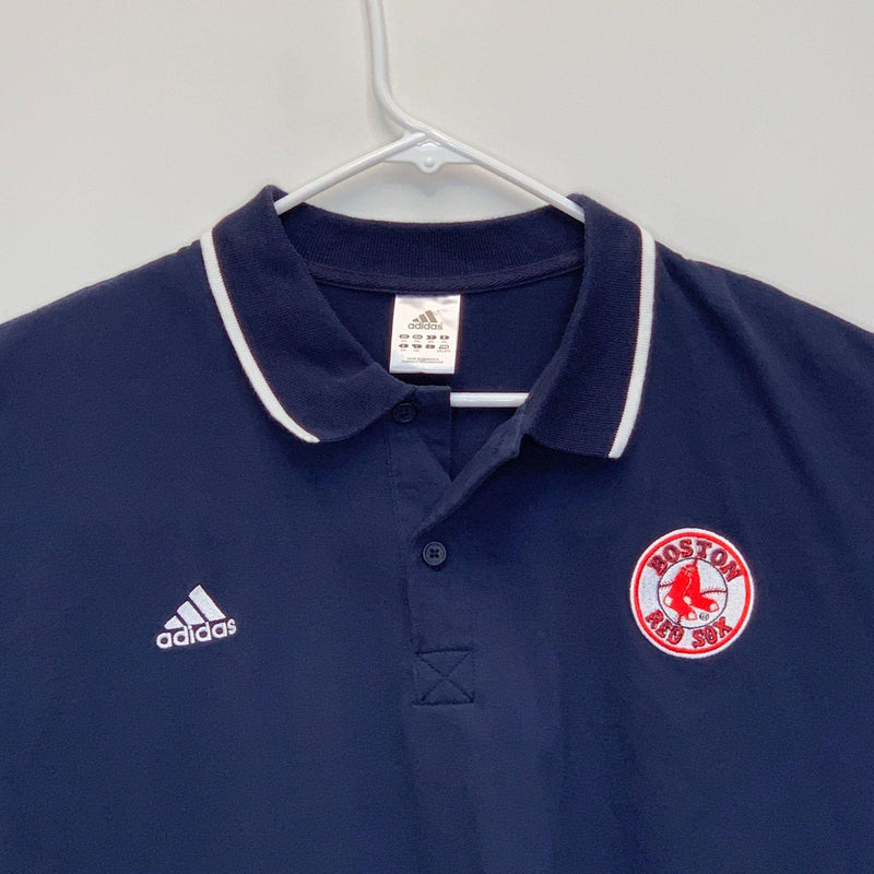 Boston Red Sox Adidas Mens Golf Polo Blue 2XL