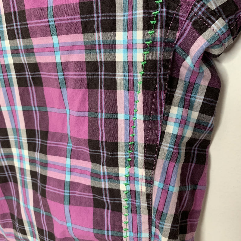 Robert Graham Mens Designer Shirt Purple Black Medium