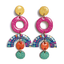 Load image into Gallery viewer, SPRINKLE Statement Earrings in Blue Multi