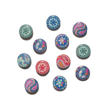 Load image into Gallery viewer, PAISLEY Studs in Blue & Pink