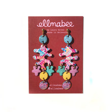Load image into Gallery viewer, Coral Statement Earrings Pink Multi