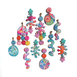 Sea Squiggles Pink/ Multi