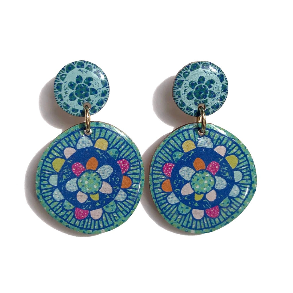 BLOSSOM Earrings in Sage