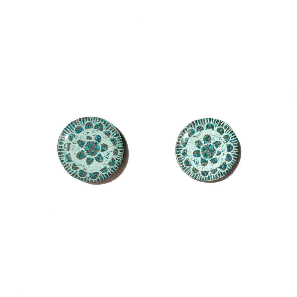 BLOSSOM Studs in Green
