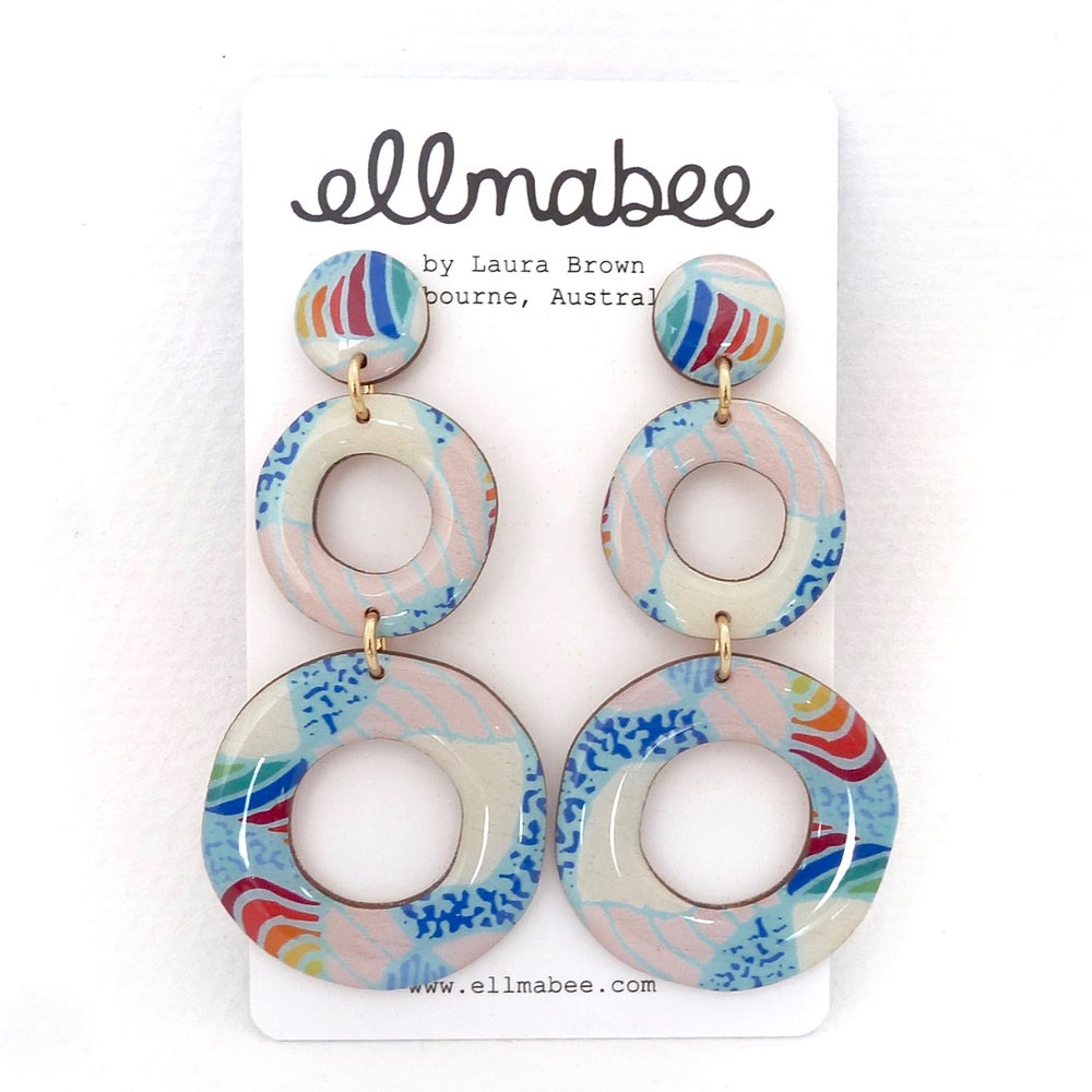 SYNTHESIS Statement Earrings Circles