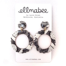 Load image into Gallery viewer, ENIGMA Statement Earrings Scalloped Circle