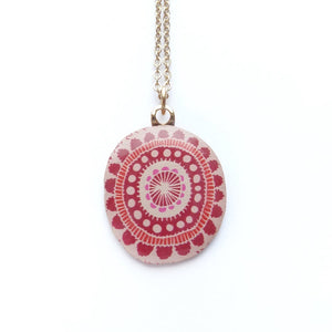 GALA Red Pendant on 45cm Gold Plated Chain