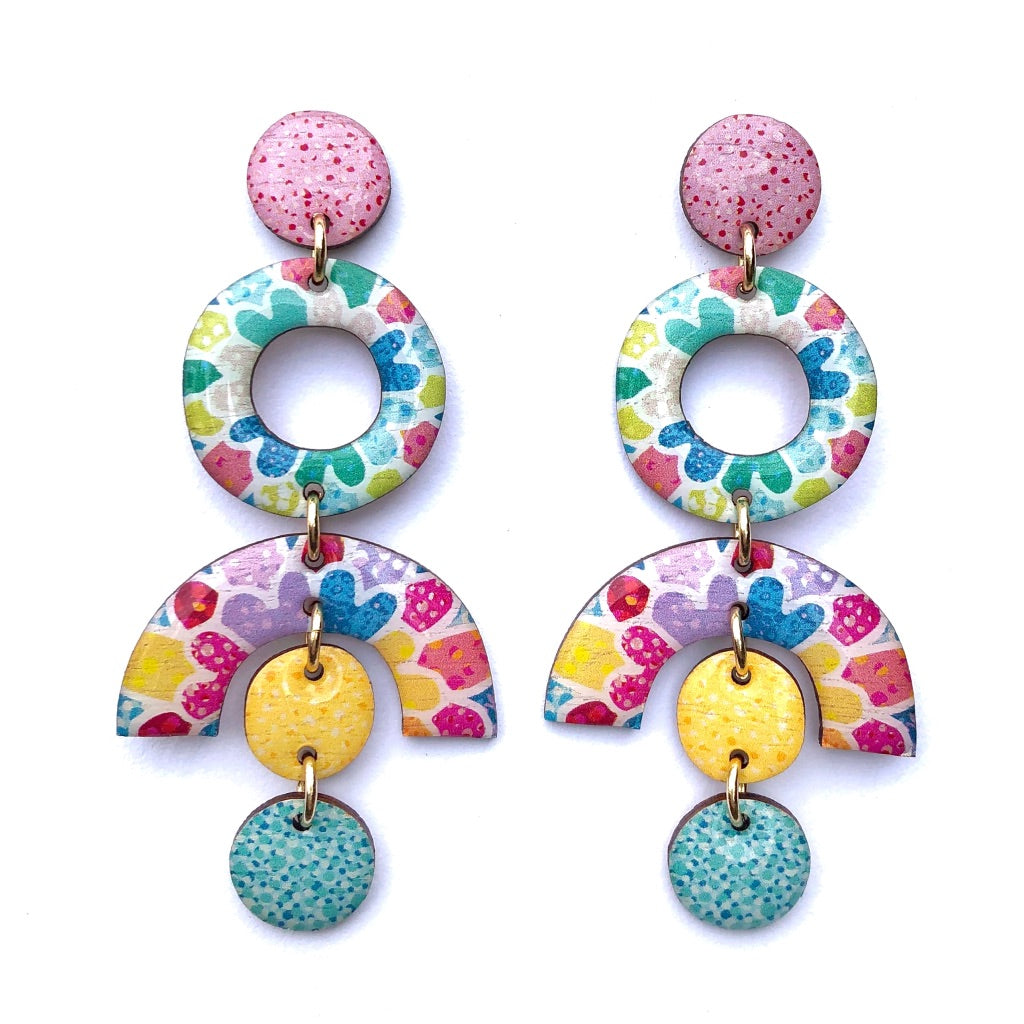MOSAIC Statement Earrings in Multi