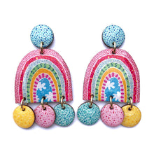 Load image into Gallery viewer, RAINBOW Statement Earrings