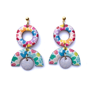 MOSAIC Small Statement Earrings Lilac