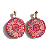 Load image into Gallery viewer, BLOOM Earrings in Red