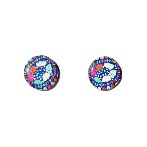 SPRINKLE Studs in Blue
