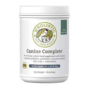 Wholistic Pet Canine Complete Organic Supplement