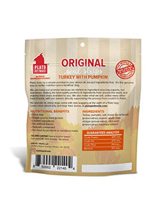 Plato Original Real Strips Turkey & Pumpkin Dog Treats