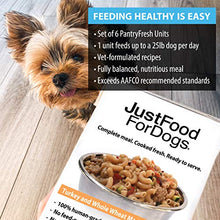 Load image into Gallery viewer, JustFoodForDogs Turkey & Whole Wheat Macaroni Dog Food