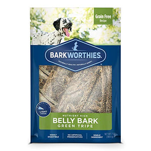 Barkworthies Green Tripe Belly BarkDog Chews